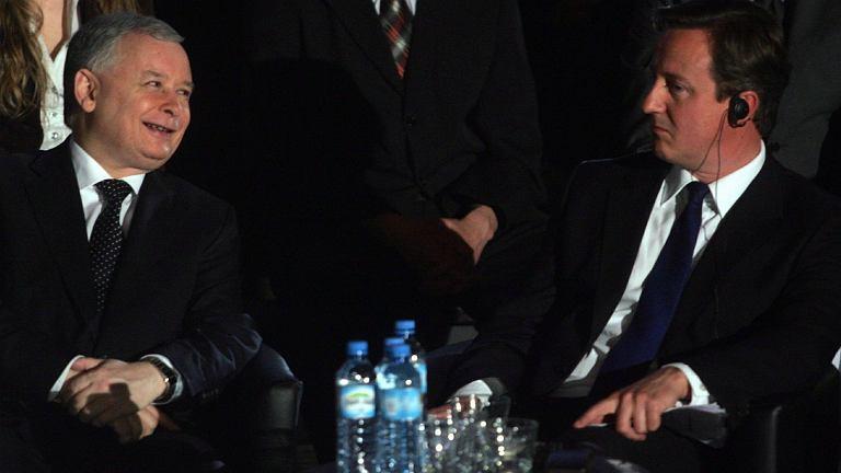 Jarosław Kaczyński i David Cameron w 2009 r.