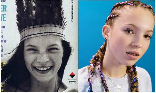 Te same piegi, te same krzywe zęby... Córka Kate Moss rozpoczęła karierę modelki
