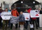 """""""Wolność dla Saszy!"""". Przed ambasadą rosyjską w Kijowie akcja poparcia dla więzionego Ukraińca z Krymu"""