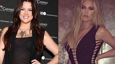 Khloe Kardashian metamorfoza, Instagram