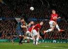 Nemanja Vidić strzela gola dla United