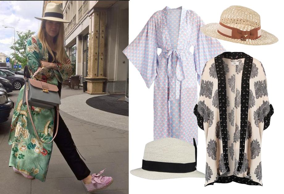 Zosia Ślotała w kimonie