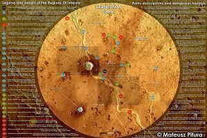 Mapa Marsa zaprojektowana przez Mateusza Piturę z Uniwersytetu Wrocławskiego
