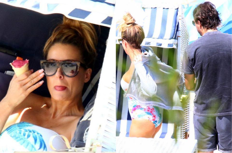 Zdjęcie numer 0 w galerii - Rozenek przyłapana z rodziną na plaży! Jej ciało w skąpym kostiumie nie wygląda już tak perfekcyjnie jak na Instagramie