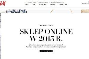 H&M w 2015 roku otworzy w Polsce sw�j sklep internetowy