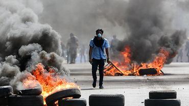 20.04.2018, Managua, walki uliczne w stolicy Nikaragui.