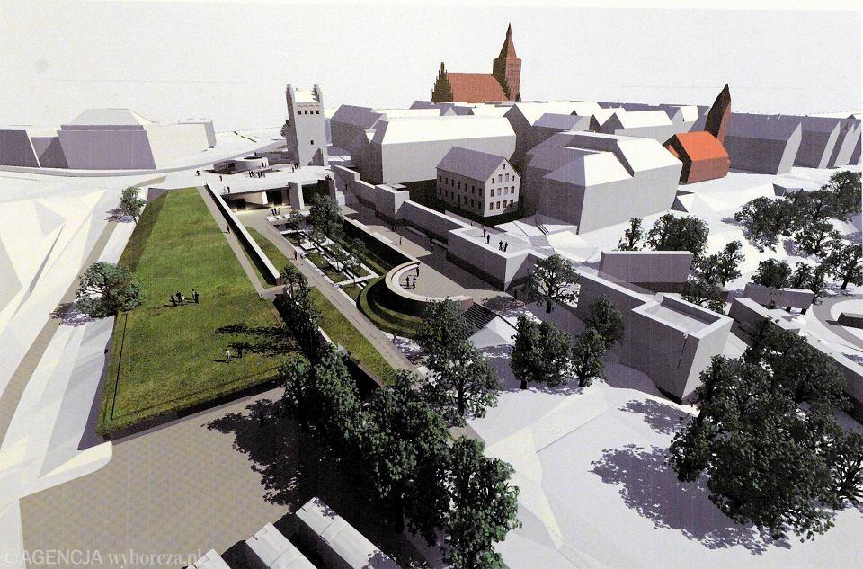 Koncepcja autorstwa projektantów z pracowni Dżus GK Architekci, która wygrała konkurs architektoniczny na zagospodarowanie okolic Wysokiej Bramy i plant miejskich w Olsztynie