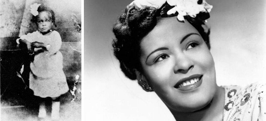Billie Holiday w 1917 i w 1943 r. (fot. Wikimedia.org / Domena publiczna)
