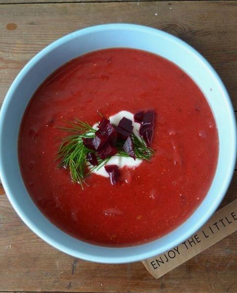 Chłodnik pomidorowo-buraczany