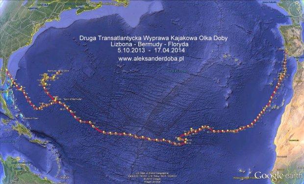 Olek Doba pokona� Atlantyk! Kosmiczne zako�czenie wyprawy kajakowej