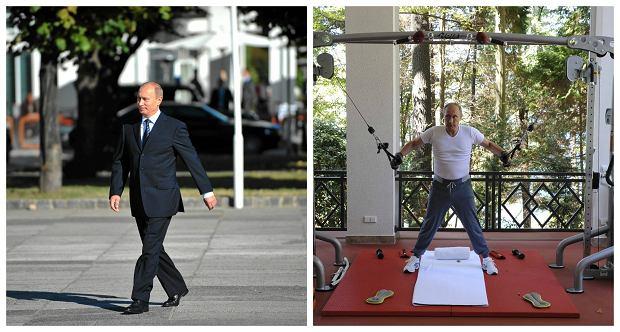 W�adimir Putin podczas wizyty w Polsce i podczas sesji zdj�ciowej na silowni