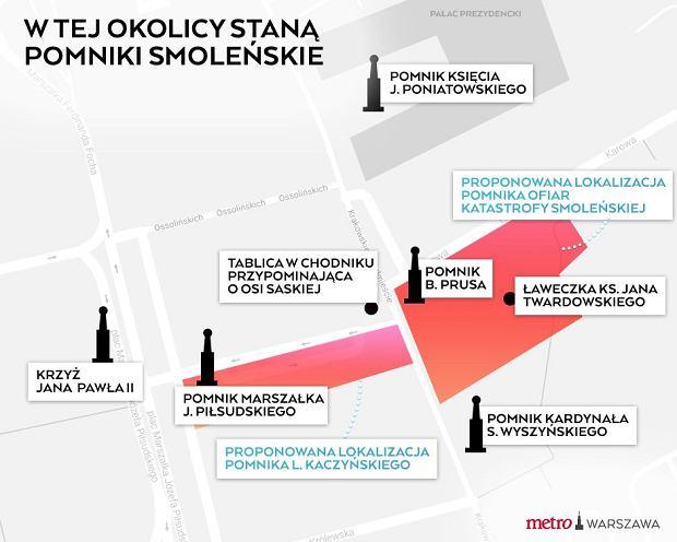 Tutaj mają stanąć Pomnik Smoleński oraz poświęcony Lechowi Kaczyńskiemu.