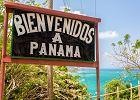Pozdrowienia z Panamy. Znak przy granicy z Kolumbią