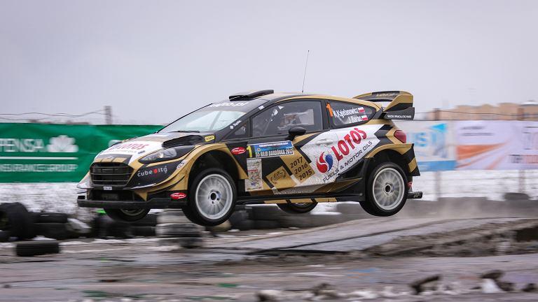 Kajetan Kajetanowicz i Jarosław Baran w Fordzie Fiesta WRC