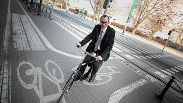 Wojciech Makowski - został poznańskim oficerem rowerowym w 2015 roku