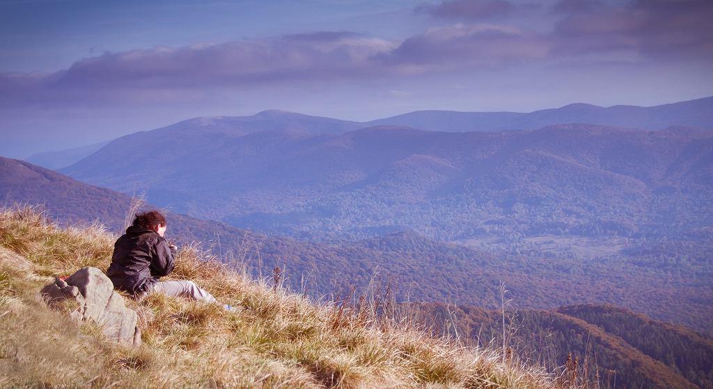 Bieszczady. Puste szlaki w Bieszczadach jesienią