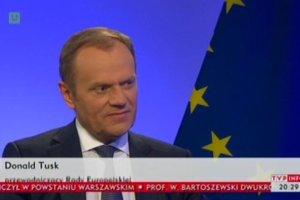"""Tusk udzieli� wywiadu TVP Info. """"Unia nie podejmie militarnej interwencji na Ukrainie. Nie r�bmy sobie z�udze�"""""""