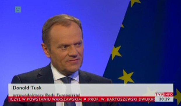 """Tusk udzielił wywiadu TVP Info. """"Unia nie podejmie militarnej interwencji na Ukrainie. Nie róbmy sobie złudzeń"""""""