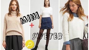 Spódnica mini i sweter w gotowych zestawach