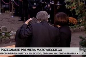 Tadeusz Mazowiecki spocz�� na cmentarzu w podwarszawskich Laskach