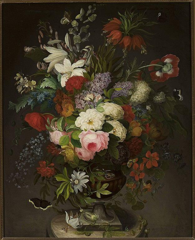 Henryka Beyer (1782-1855), 'Kwiaty', ok. 1827 / wystawa 'Biedermeier' / Fot. Krzysztof Wilczyński / Muzeum Narodowe w Warszawie