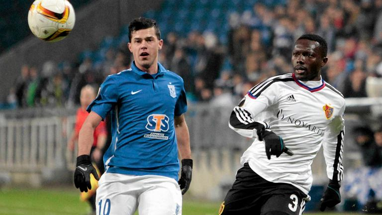Lech Poznań - FC Basel 0:1. Darko Jevtić i Adama Traore
