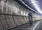 Pierwszy cz�owiek, kt�ry przejecha� na rowerze Kana� La Manche