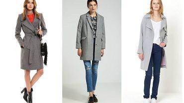 Szare płaszcze dla kobiet