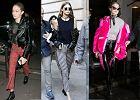 Spodnie w stylu punk - Gigi Hadid