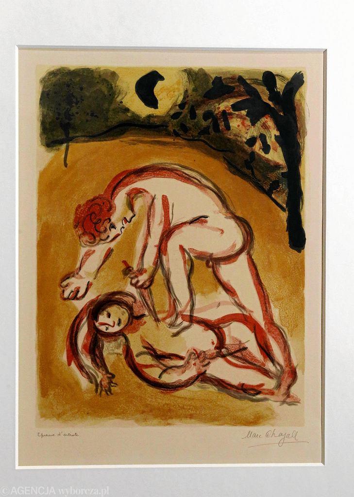 Litografia Marka Chagalla 'Kain i Abel' / KUBA ATYS
