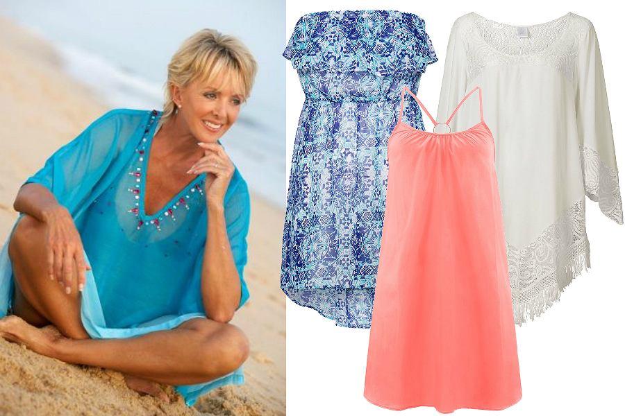 dec043185f Sukienki plażowe dla dojrzałych kobiet  niedrogie i ładne modele na ...