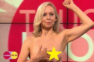 """Kobieta pokaza�a piersi w telewizji �niadaniowej! """"Jeste�my naprawd� wdzi�czne za to, co dla nas zrobi�a�"""""""