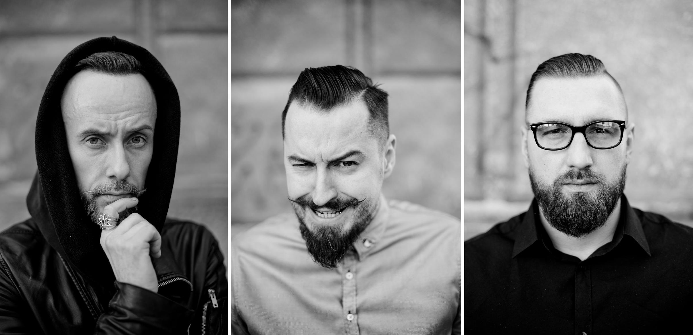 Adam Nergal Darski, Piotr Kędzior Kędzierski oraz Lukas Tarka (fot. Piotr Litwic)