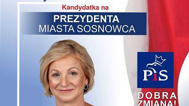 Grażyna Welon, kandydatka PiS na prezydenta Sosnowca