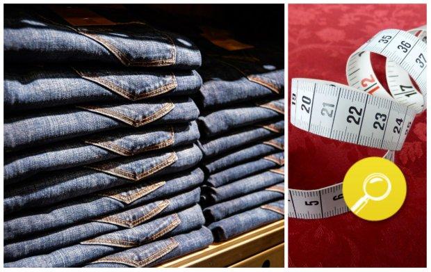 rozmiarówka jeansów