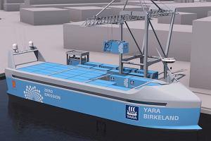 Pierwszy na świecie autonomiczny kontenerowiec o napędzie elektrycznym wkrótce ruszy w morze