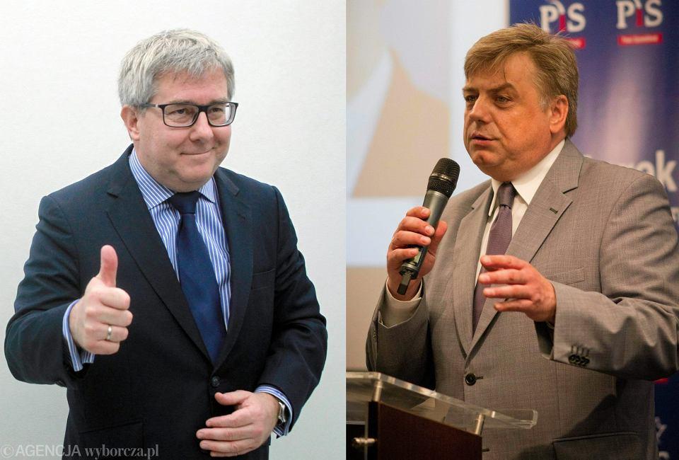 Europosłowie PiS Ryszard Czarnecki i Kosma Złotowski