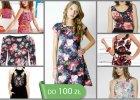 Sukienki w kwiaty z wyprzeda�y - do 100 z�
