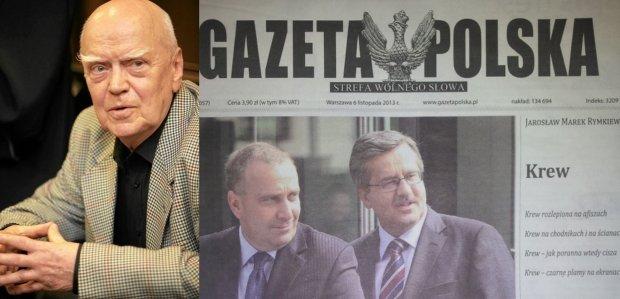 """Nowy wiersz Jaros�awa Rymkiewicza w """"Gazecie Polskiej"""": """"Krew (...) na bia�ych r�kawiczkach Tuska"""""""