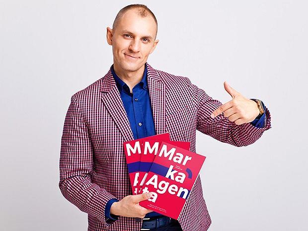 Autor książki 'Marka Agenta' Łukasz Kruszewski