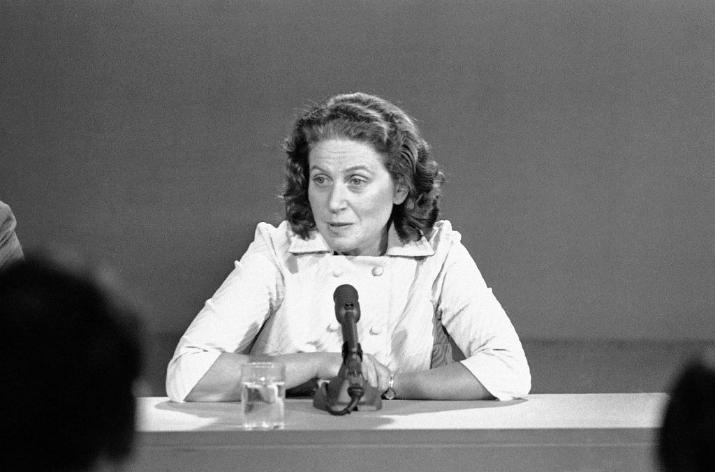 Swietłana w telewizyjno-radiowym show ''Meets the Press'' nadawanym z Waszyngtonu, 1969 r. (fot. Eastnews)