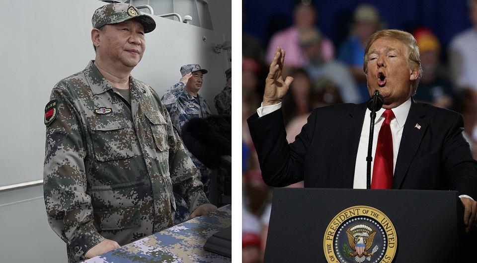 Przewodniczący Chińskiej Republiki Ludowej Xi Jinping i prezydent USA Donald Trump