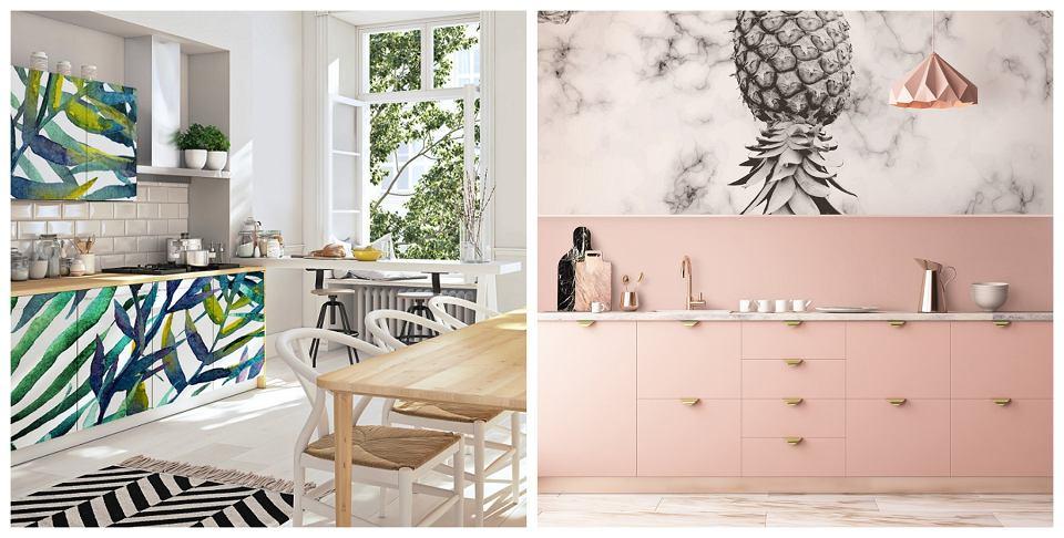 Fototapety w kuchni - na ścianie i na meblach