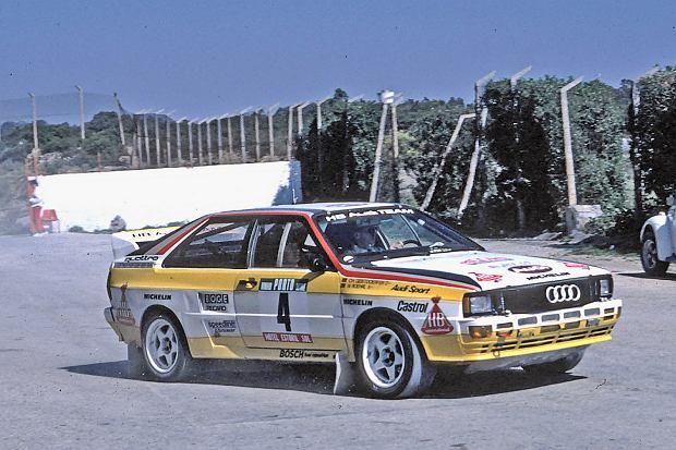 Audi Quattro w czasie rajdu Portugalii w 1984 roku