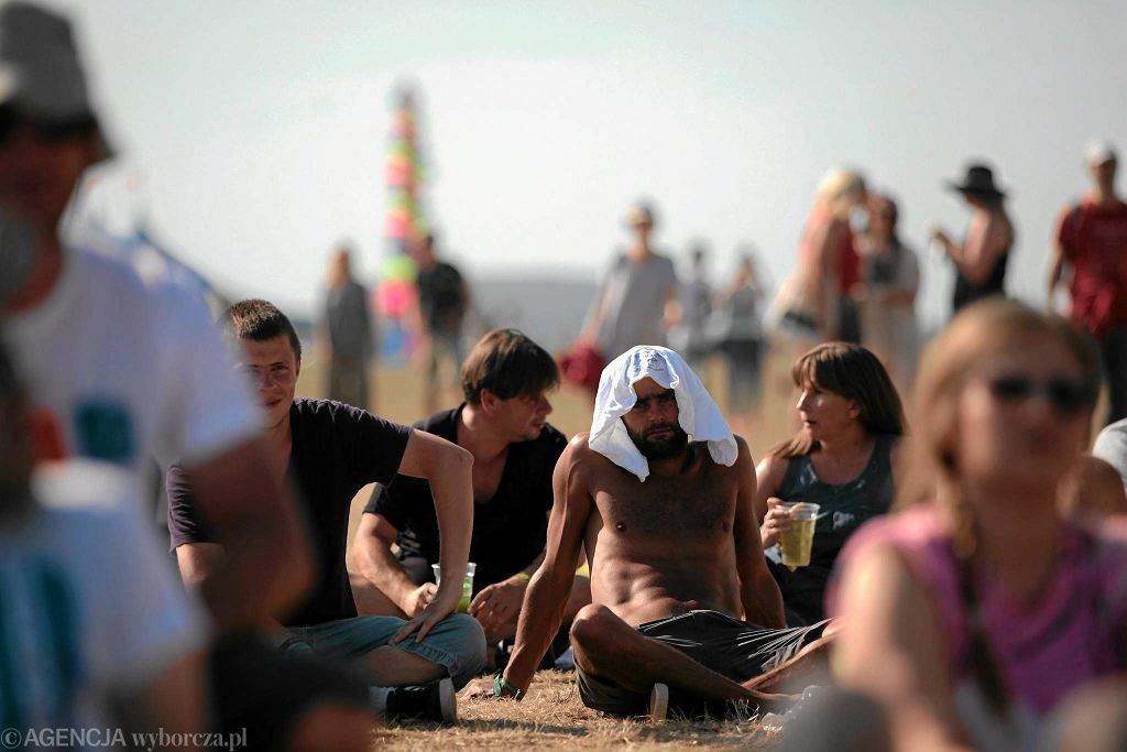 04 lipca 2015 r., Gdynia. Upał podczas festiwalu Open'er