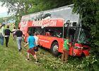 Wypadek autokaru Polski Bus w Warmińsko-Mazurskiem: 13 rannych