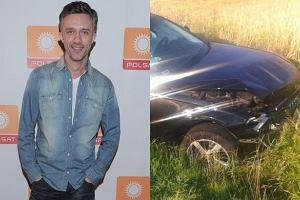 """Aktor """"Pierwszej mi�o�ci"""" mia� wypadek samochodowy. Auto nie nadaje si� ju� do jazdy"""