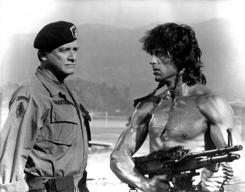 Richard Crenna i Sylvester Stallone w filmie ''Rambo: First Blood Part II'' (fot. Mary Evans Picture Library / Eastnews.com)