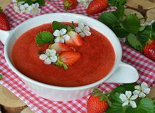 Mocno truskawkowy chłodnik - ugotuj