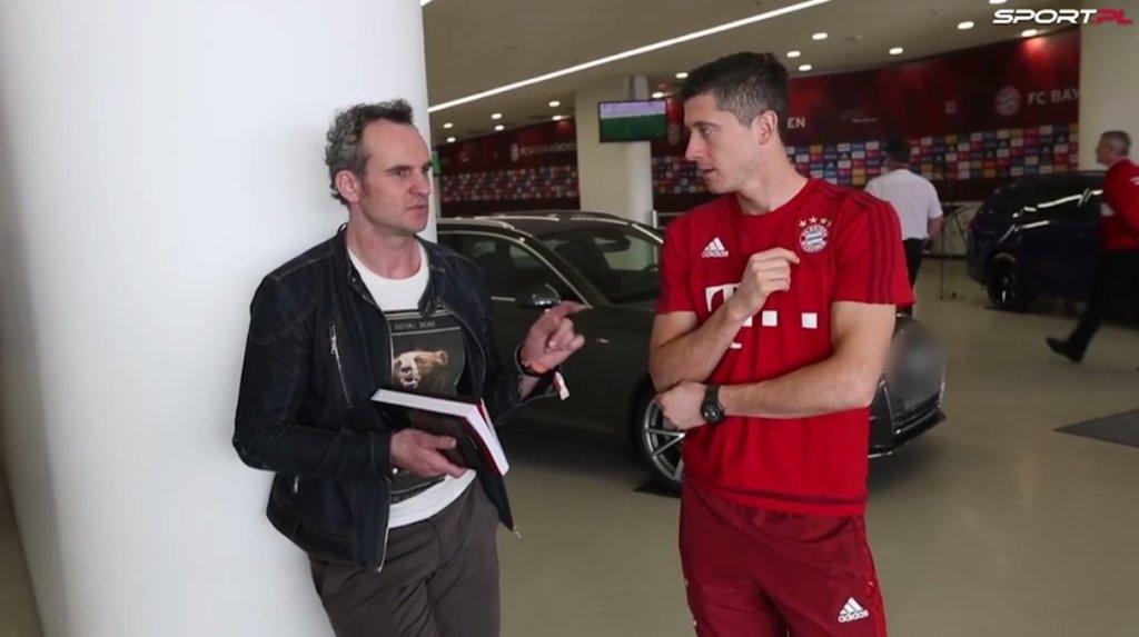 Paweł Wilkowicz i Robert Lewandowski